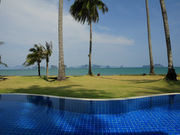 View form the pool at  the 2 bedroom deluxe Aircon Bungalow villa